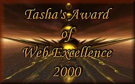 Tasha's award of web excellence